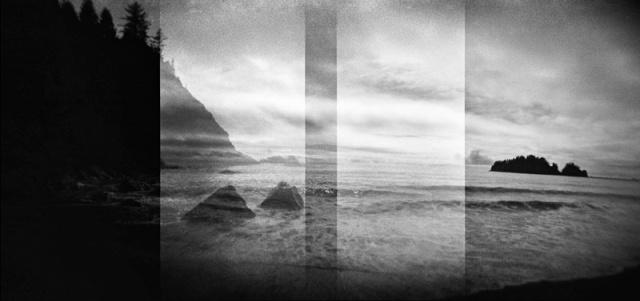 Camera: Holga 120NFilm: Ilford Pan F Plus 50Location: First Beach - La Push, Washington State