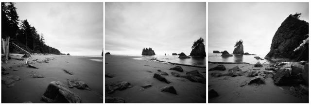 Camera: Zero Image 2000 PinholeFilm: Kodak Ektar 100 (converted to BW)Location: Second Beach - Olympic National Park, Washington State