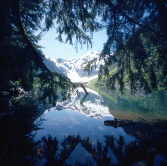 Camera: Zero Image 2000 Film: Kodak Ektar 100 Exposure Time: 3 seconds Location: Goat Lake - Henry M. Jackson Wilderness, Washington State